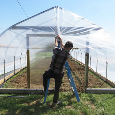 Upgrading the greenhouse covering