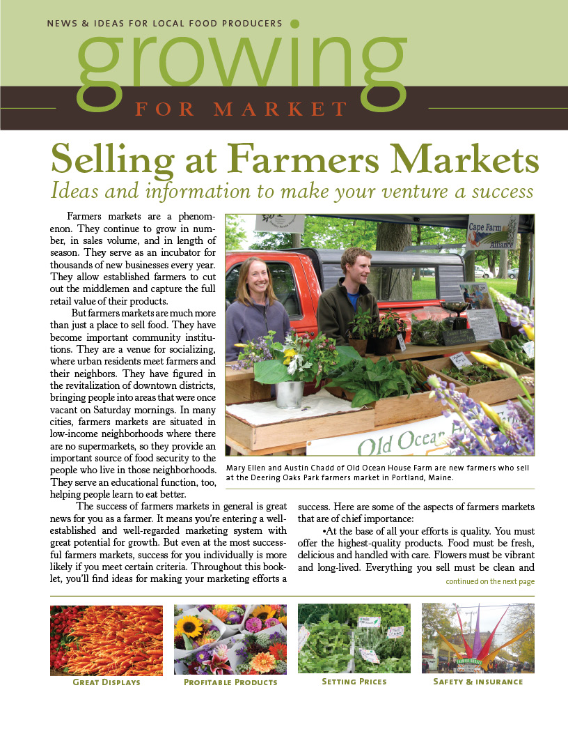 Selling at Farmers Markets - Growing for Market