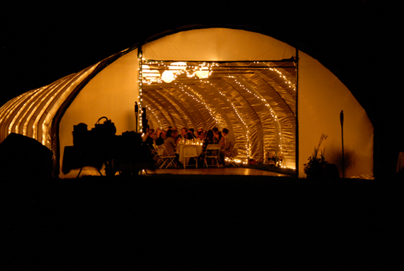 high tunnel used for party