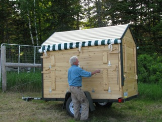 Eliot Coleman with Mobile Farm Stand